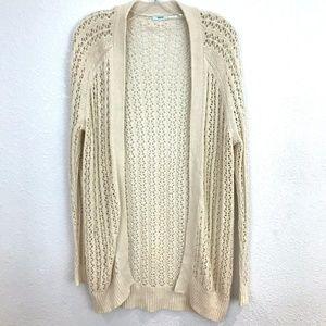 UO Kimchi blue crochet long cardigan sweater
